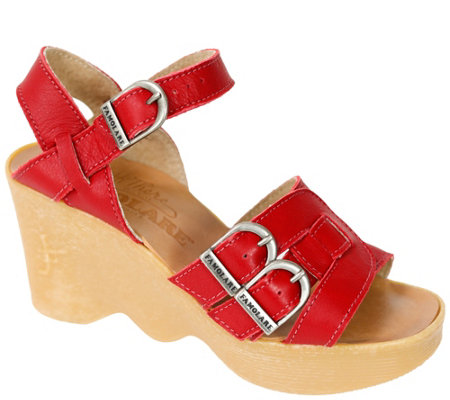 Famolare Hi There Leather Wedge Sandal - Buckleberry Finn