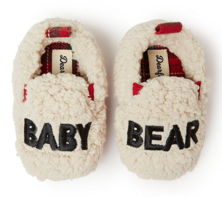 factory authentic stable quality factory outlets Dearfoams Baby Bear Closed Back Slippers — QVC.com
