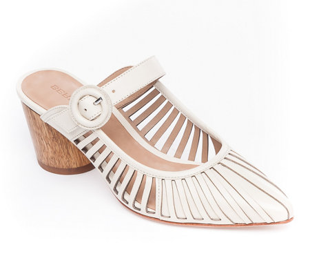 Bernardo Slip-On Leather Mules - Fatima