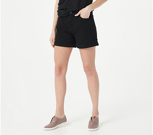 Jen7 by 7 For All Mankind Mid Roll Shorts