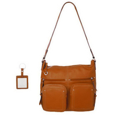cffacdeaf3 Tignanello Glove Leather Zip Top Pocket Hobo with Key Fob - Page 1 ...