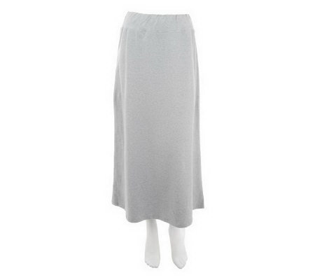 """As Is"" Denim & Co. Essentials Knit Pull-on Maxi Skirt"
