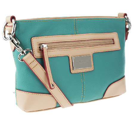 Tignanello Pebble Leather All Star Crossbody With Vachetta Trim