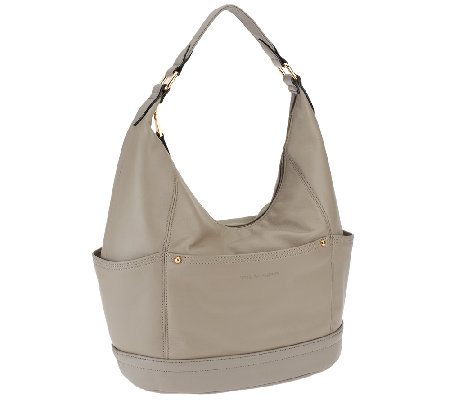 28c47af192 Tignanello Glove Leather Hobo with Outside Pockets - Page 1 — QVC.com
