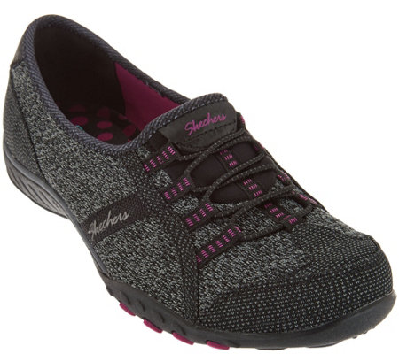 Skechers Knit Bungee Slip-ons - Save the Day