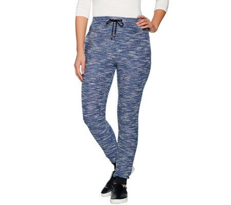 HotTotties French Knit Melange Lounge Slim Pant
