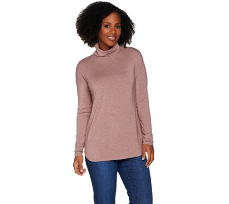 """As Is"" H by Halston Essentials Long Sleeve Knit Turtleneck"