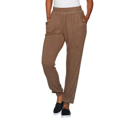 """As Is"" AnyBody Loungewear Brushed Hacci Jogger Pants"