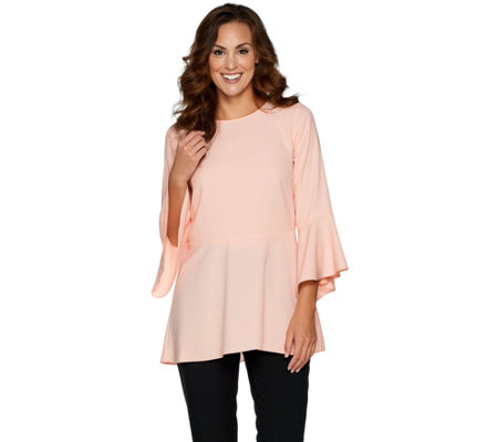 Linea by Louis Dell'Olio Flutter Sleeve Blouse