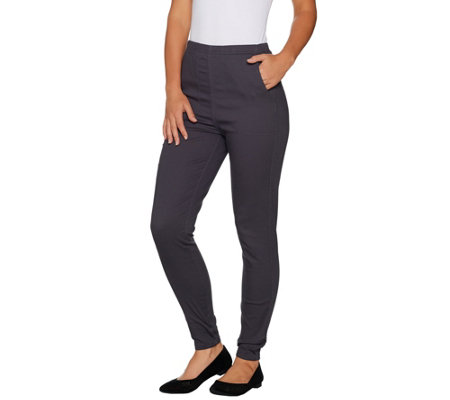 Denim & Co. Petite Color Pull-on Stretch Denim Leggings
