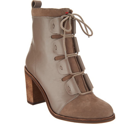 ED Ellen DeGeneres Leather & Suede Ankle Boots - Wallee