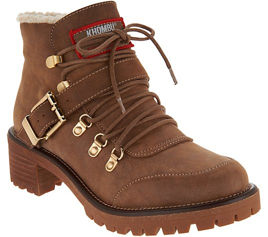 Khombu Waterproof Lace-up Boots - Eagle