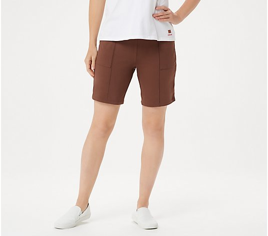 Denim & Co. Active Duo Stretch Shorts with Pintuck Detail