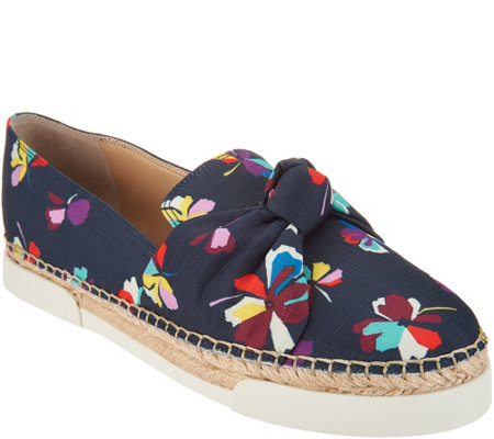 """As Is"" Vince Camuto Canvas Slip On Espadrilles - Tratida"