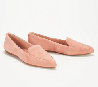 a05bd11811f Taryn Rose Suede Pointed Toe Loafers - Faye - A347404