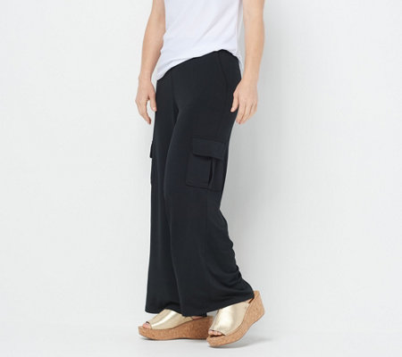 As Is Lisa Rinna Collection Petite Pull On Cargo Pants
