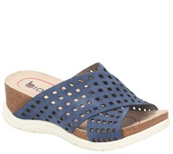 a304f3c2fba871 Bionica Nubuck Slide Sandals - Pandora - A412104