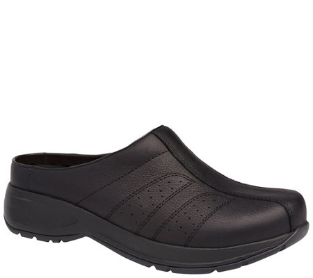 Dansko Open Back Clog Slip On Leather Shoes - Shelly