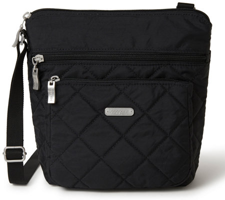 baggallini Quilted Pocket Crossbody with RFID Wristlet