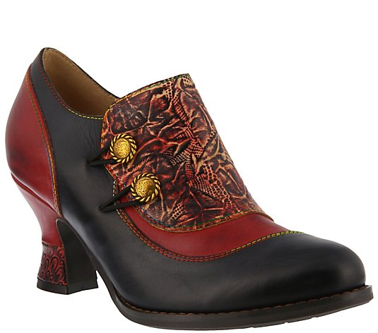 L'Artiste by Spring Step Leather Shooties - Ophitia