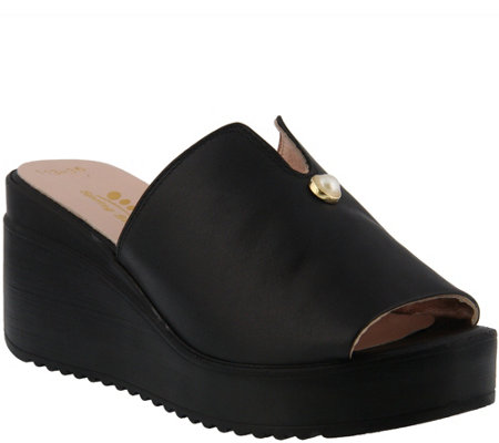 Spring Step Leather Slide Sandals Noresa