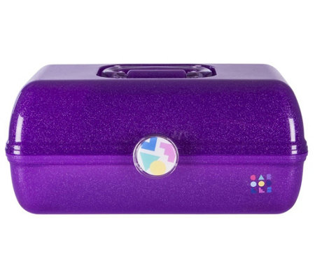 Caboodles Vintage On The Go Girl Storage Sparkle Cosmetic Case