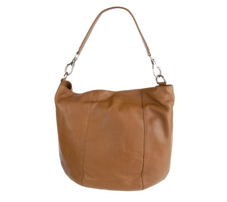 Stone Mountain Large Leather Hobo Bag W Ring Detail