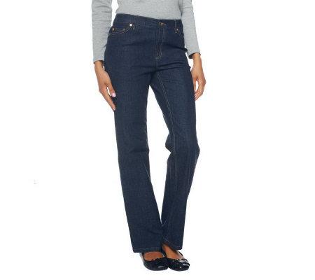 6affb0ab662 Liz Claiborne New York Jackie Straight Leg Jeans with Pleated Pocket ...