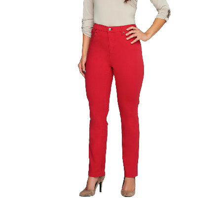 Liz Claiborne New York Petite Jackie Colored Slim Leg Jeans