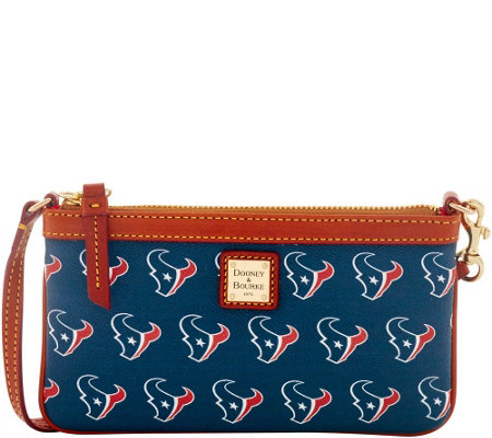 Dooney & Bourke NFL Texans Large Slim Wristlet
