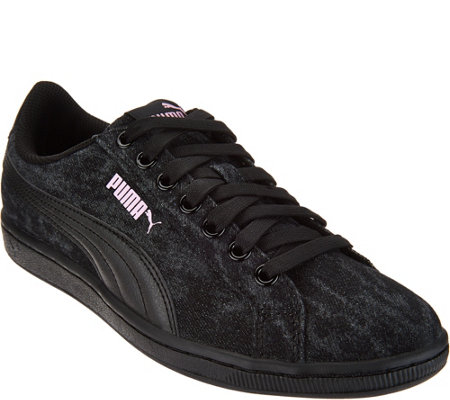 PUMA Denim Lace-up Sneakers - Vikky Denim