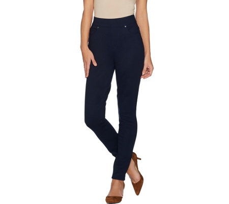 Martha Stewart Regular Ponte Knit Pull-On Ankle Pants