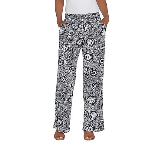 Kelly by Clinton Kelly Petite Pull-On Printed Knit Pants