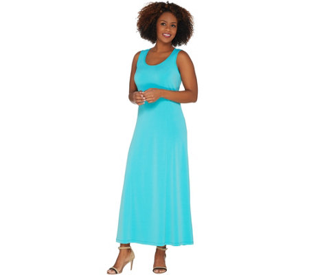 """As Is"" Susan Graver Liquid Knit Sleeveless Maxi Dress"
