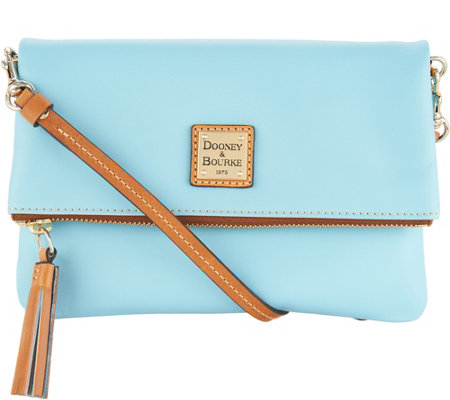 """As Is"" Dooney & Bourke Smooth Leather Foldover Crossbody"