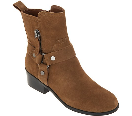 Marc Fisher Leather or Suede Harness Side Zip Boots - Dalary