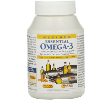 Andrew Lessman Maximum Essential Omega-3 Orange 30 Capsules