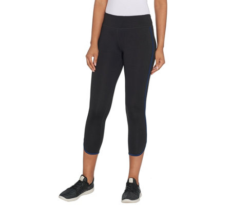 """As Is"" Susan Lucci Collection Petite Contrast Cropped Legging"