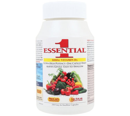 Andrew Lessman Essential-1 with Choice of Vitamin D3 200 Capsules