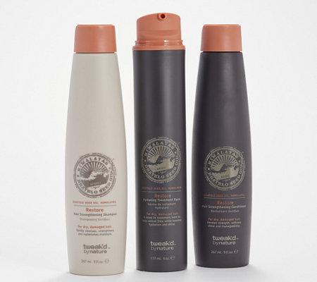 Tweak D By Nature Restore Balm Shampoo Conditioner Set