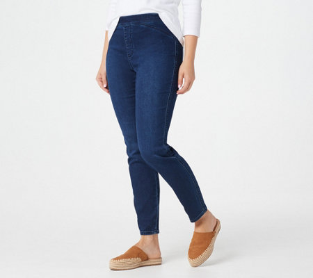 GRAVER Susan Graver Regular Knit Denim Pull-On Jeans