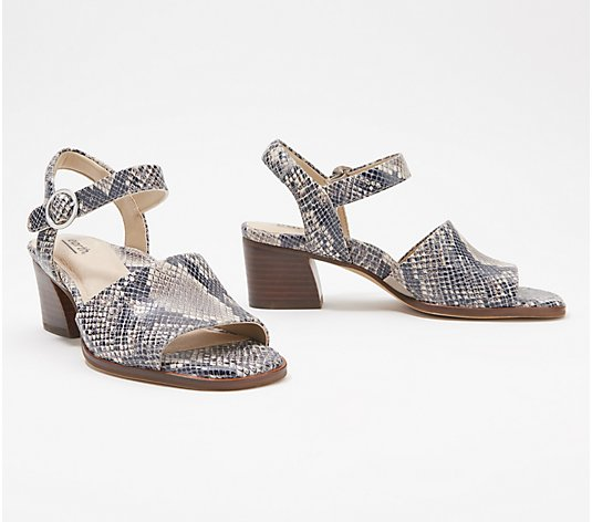 Earth Leather Heeled Sandal - Murano Haze