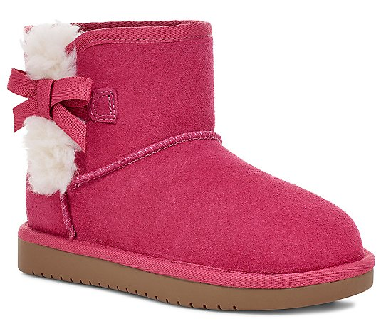 Koolaburra by UGG Kids' Suede Bow Mini Boots - Victoria
