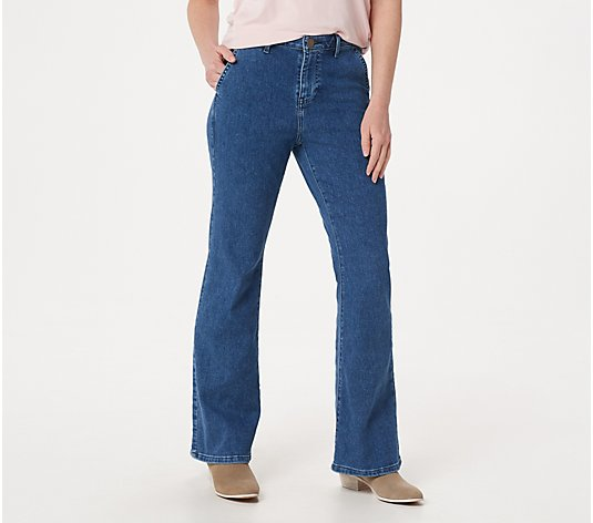 """As Is"" BROOKE SHIELDS Timeless Regular Flare Jeans - Indigo"