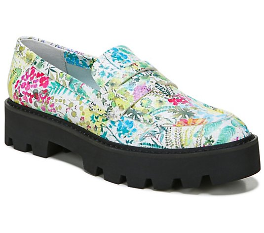 Franco Sarto Lug Sole Leather Platform Loafers- Balin