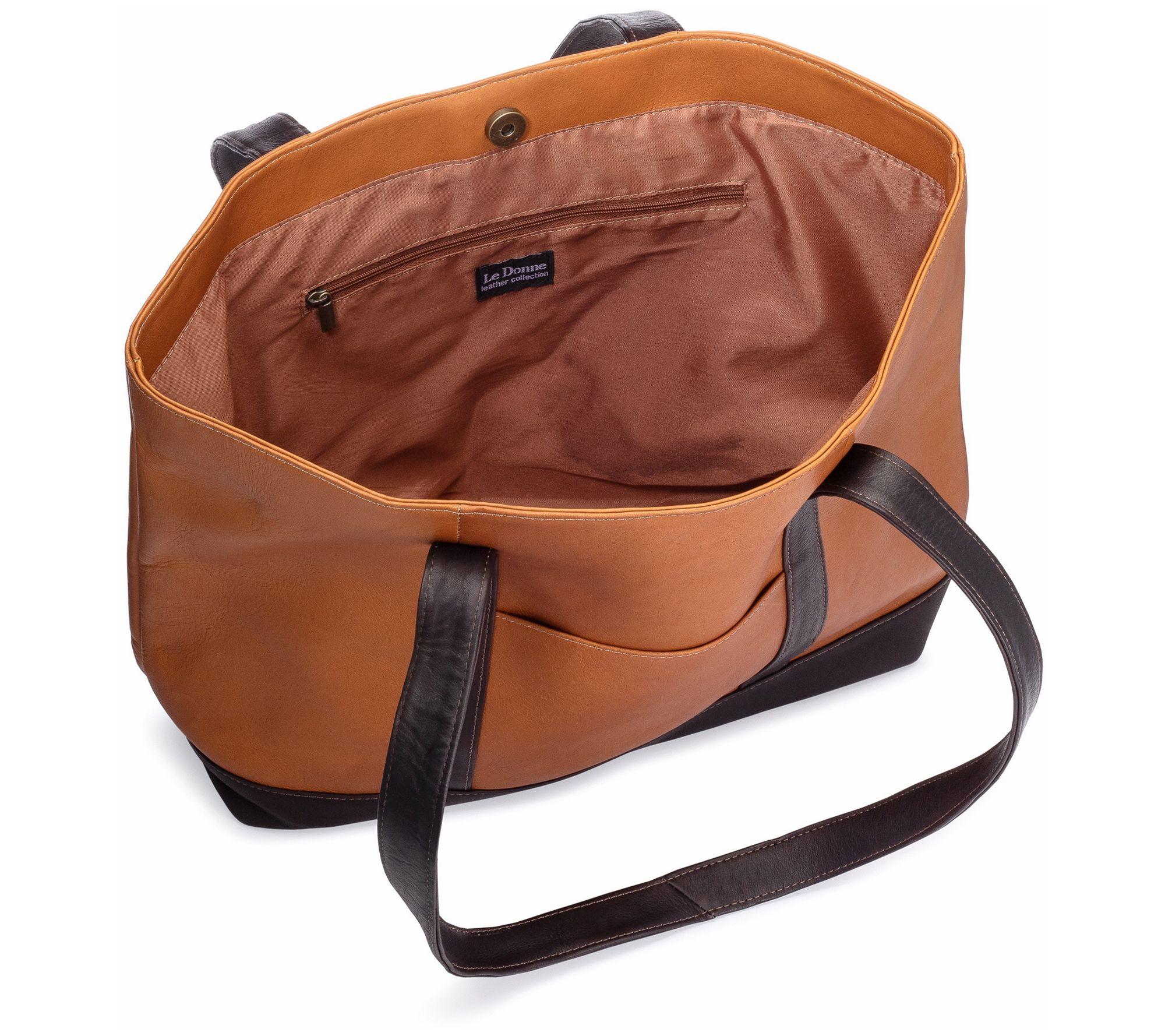 Details about  /Le Donne Leather Joilet Pocket Tote