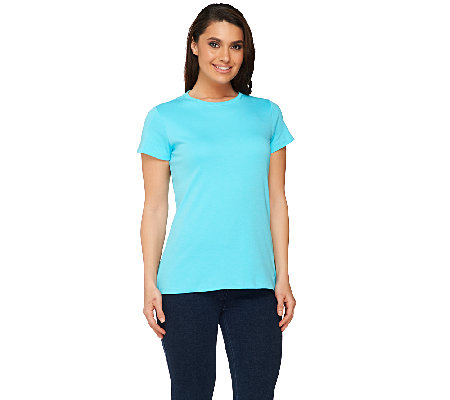 Isaac Mizrahi Live! Essentials Crew Neck Knit Tee