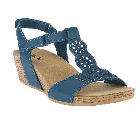 801d891359a Clarks Nubuck Leather Wedge Sandals - Alto Gali - Page 1 — QVC.com
