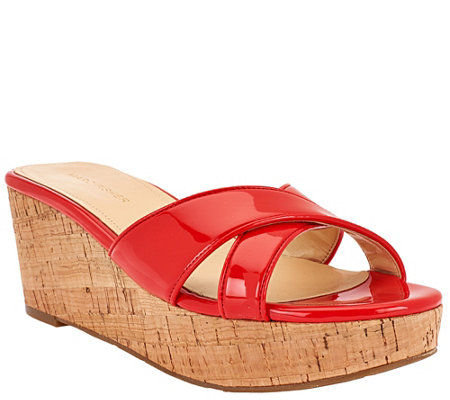 Marc Fisher Cross Band Wedge Sandals - Cilla