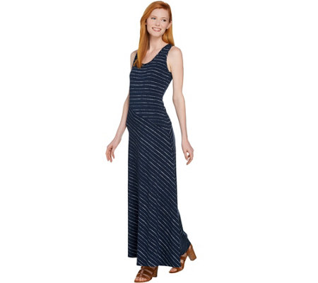 Lisa Rinna Collection Regular Striped Knit Maxi Dress